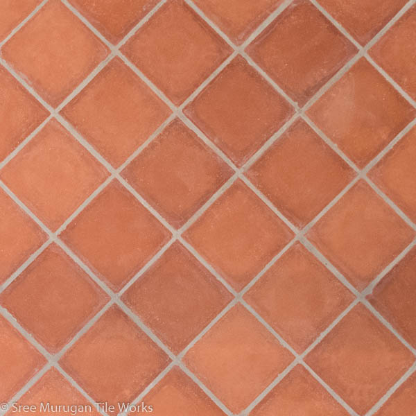 Clay Flooring Tile Square Shape Sree Murugan Tile Works
