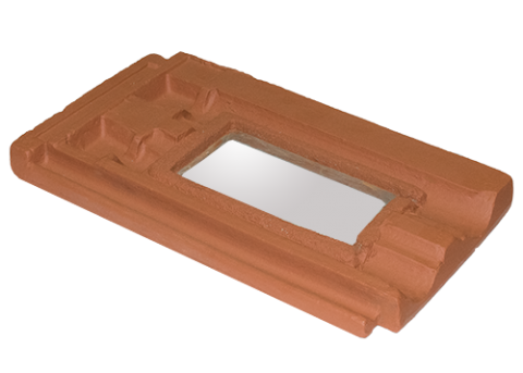 Single Groove Roof Tile with Glass Skylight